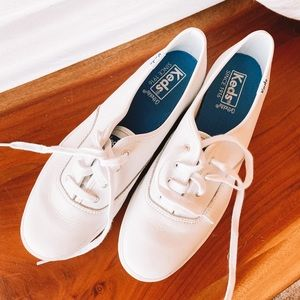 Keds White Triple Leather Sneakers